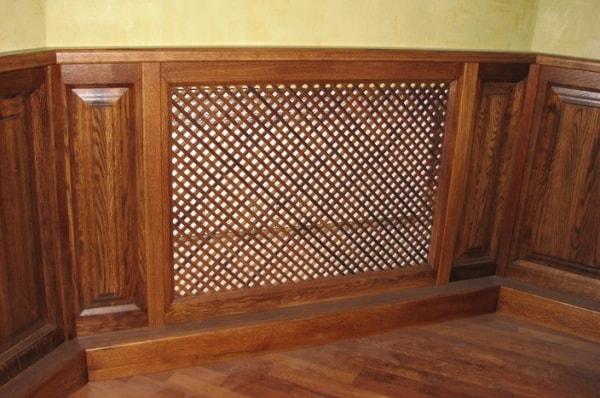 Деревянная панель из массива дуба