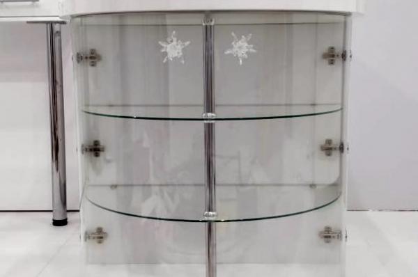 тумба с гнутыми стёклами