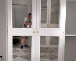 Установка дверей в шкаф